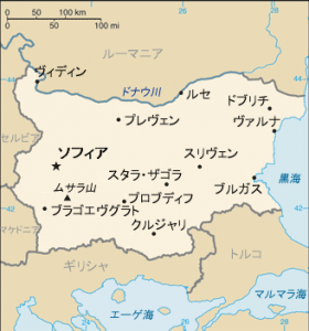 ブルガリアの地図