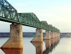 ペルミ付近の鉄橋