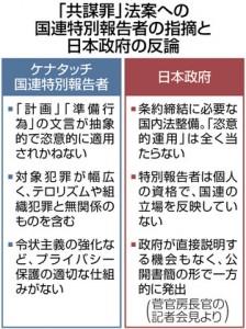 共謀罪、東京新聞3